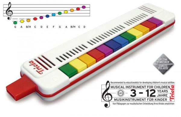 Triola Blasharmonika für Kinder mit bunten Noten